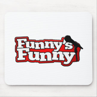 Materia divertida divertida del logotipo alfombrilla de raton