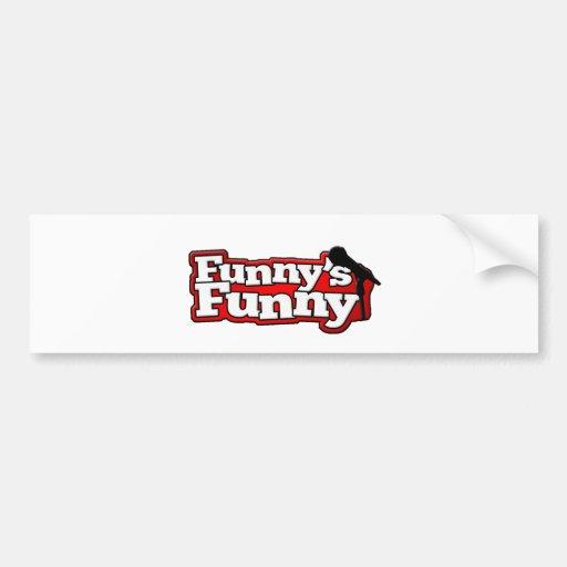 Materia divertida divertida del logotipo etiqueta de parachoque