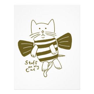 materia en mi gato - abeja tarjetones