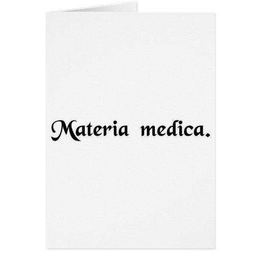 Materia médica tarjetón