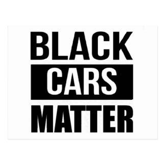Materia negra de los coches - humor divertido de postal