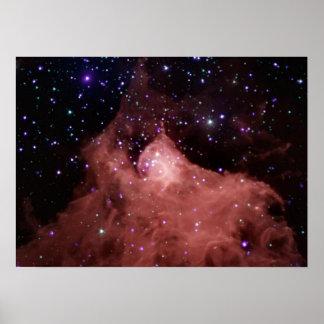 Materia oscura de NASAs Cepheus B Póster