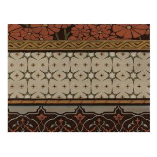 Materia textil de la herencia con los modelos postal