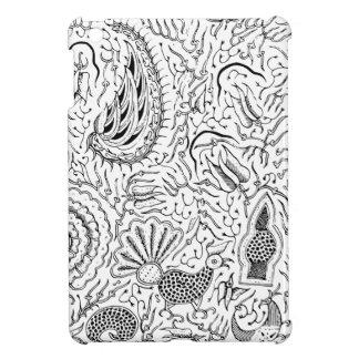 Materia textil indonesia abstracta con los pájaros