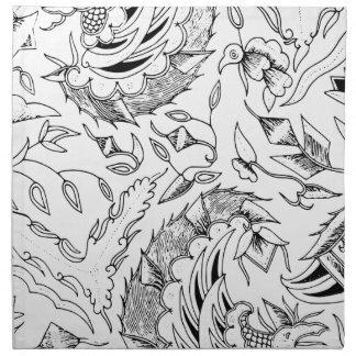 Materia textil indonesia de las plantas y de los servilleta de tela