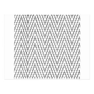 Materia textil indonesia ondulada abstracta postal