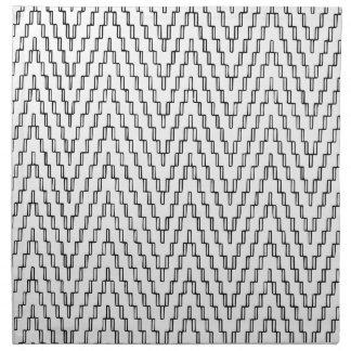 Materia textil indonesia ondulada abstracta servilleta de tela