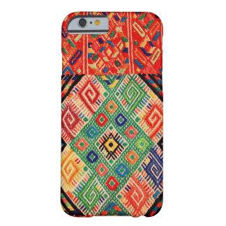 Materia textil tejida nativa funda de iPhone 6 barely there