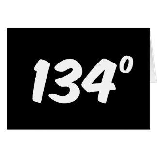 Material de primera 134 grados de Hotness Tarjeta