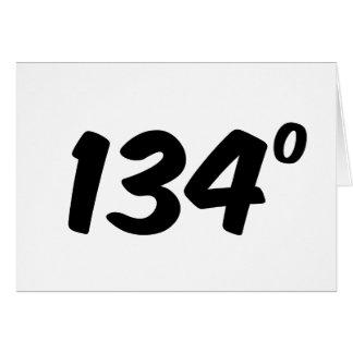 Material de primera 134 grados de ingenioso tarjeta de felicitación