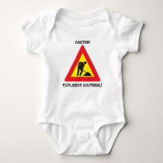 Material explosivo de la precaución del mono del body para bebé