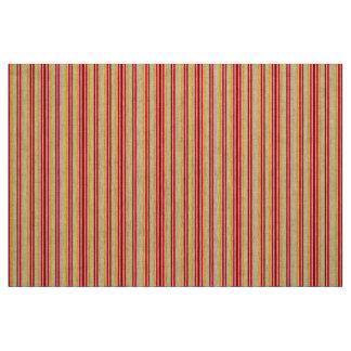 Material rojo y amarillo de la raya tela