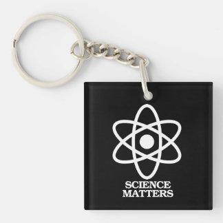 Materias de la ciencia - símbolo de la ciencia -- llavero