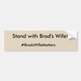 Materias de la esposa de Brad Pegatina Para Coche