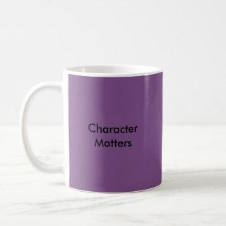 Materias del carácter taza de café
