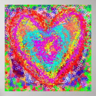 Materias del corazón: Decoraciones del FIESTA de l Posters
