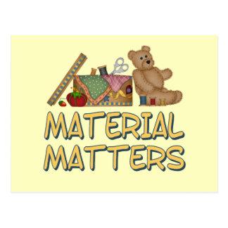 Materias materiales que cosen humor postal