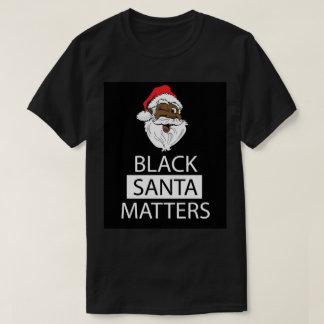 Materias negras de Santa Camiseta