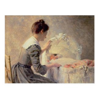 Maternidad, 1898 postal