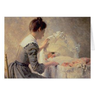 Maternidad, 1898 tarjetón