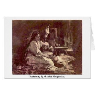 Maternidad de Nicolae Grigorescu Tarjeta