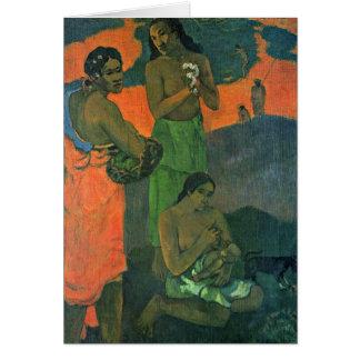 Maternidad de Paul Gauguin Tarjeton