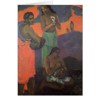 Maternidad de Paul Gauguin- (tres mujeres en la co Felicitación