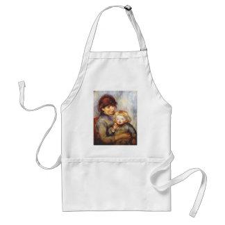 Maternidad de Pedro Renoir- (niño con una galleta) Delantal