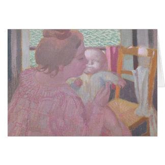 Maternidad en la ventana, 1901 tarjeta de felicitación