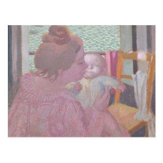 Maternidad en la ventana, 1901 postal
