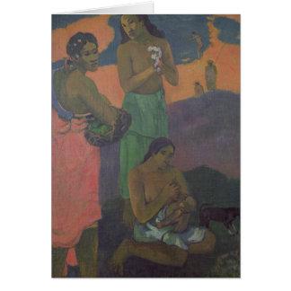 Maternidad, o tres mujeres en la costa, 1899 tarjeta de felicitación