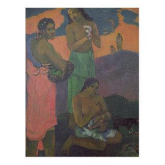 Maternidad, o tres mujeres en la costa, 1899 postal