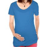 Maternidad occidental de la vaquera del vaquero li camisetas de maternidad