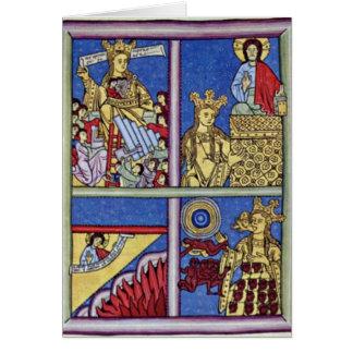 Maternidad por el amo del códice Hildegardis Tarjeta De Felicitación