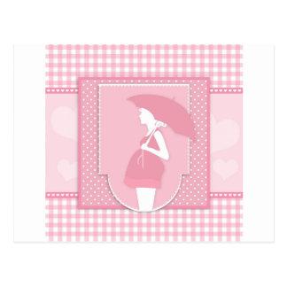 maternidad rosada postal