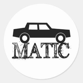 Matic auto etiquetas redondas