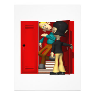 Matón de escuela tarjeta publicitaria
