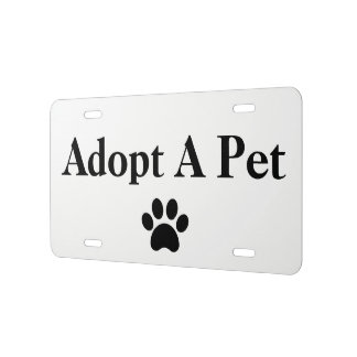Matrícula Adopte un personalizado animal de la impresión de