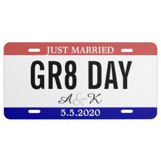 Matrícula Apenas casado casando número del coche del