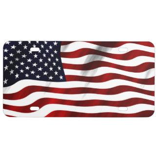 Matrícula Bandera americana