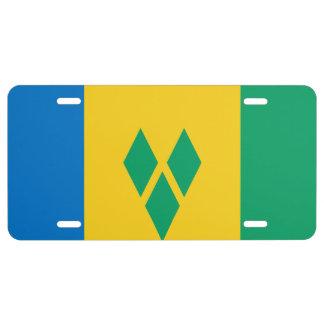 Matrícula Bandera de San Vicente y las Granadinas