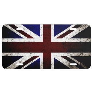 Matrícula Bandera negra 1 de Inglaterra del Grunge