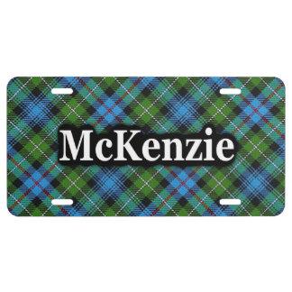 Matrícula Celebración del tartán de McKenzie MacKenzie del