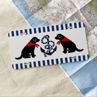 Matrícula Esquema que se sienta negro de Labrador náutico