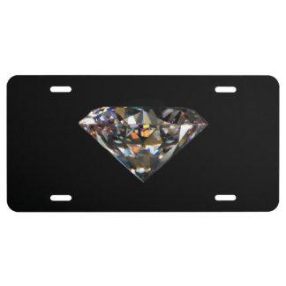 Matrícula Fondo brillante del negro de la joya de las gemas