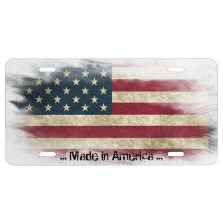 Matrícula Hecho en América, bandera apenada de los E.E.U.U.