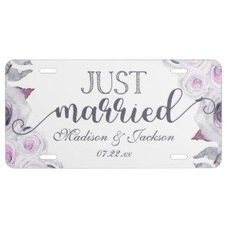 Matrícula Lavanda y el casarse floral gris apenas casados