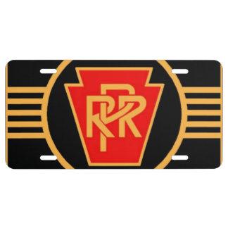 Matrícula Logotipo, negro y oro del ferrocarril de