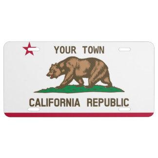 """Matrícula Personalizable bandera de California de """"su"""