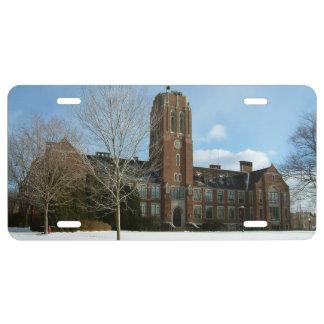 Matrícula Rockwell en invierno en la universidad de la